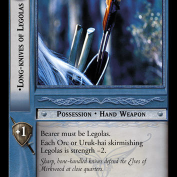 Lord of the Rings TCG - Long-Knives of Legolas - Black Rider - 12R19