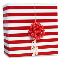 Red Stripe Gift Wrap Kit