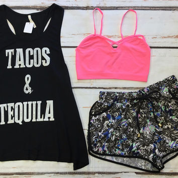 Tacos & Tequila Tank: Black