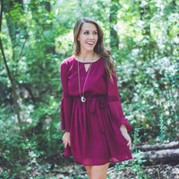 Boho Favorite Dress in Burgundy