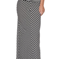 Nollie Black White Chevron Maxi Skirt at PacSun.com