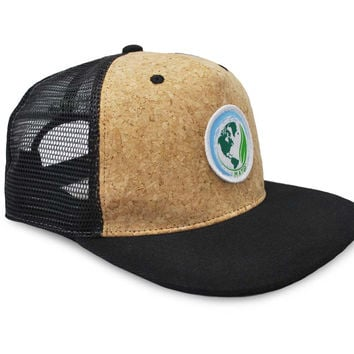 Mato Snapback Trucker Hat Net Mesh Cork Baseball Cap Large Black