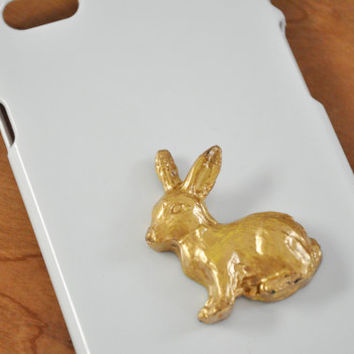 Gold painted bunny animal Samsung Galaxy S3 S4 S5 case iPhone 4/4s iPhone 5/5s iPhone 5c iPhone 6 case