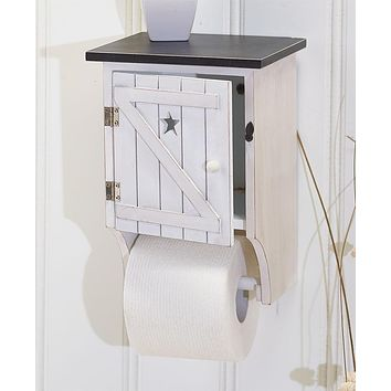 Unique Country Decorative Toilet Paper Holder & Storage Home Decor Organizer Display