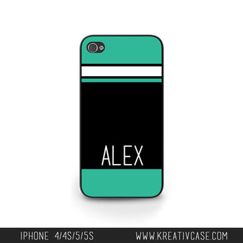 iPhone 5 Case, iPhone 5s/5C Case, Personalized iPhone Case, Custom iPhone Cover with Stripes, Phone case for me, Gift idea - K261