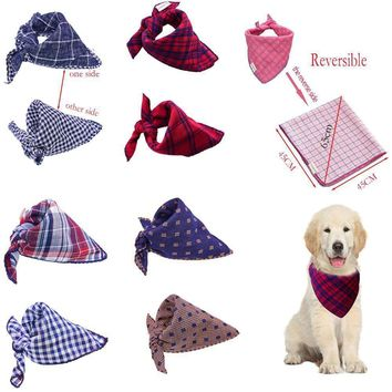 Reversible Dog Bandana Plaid Scarf