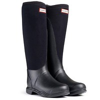 HUNTER BALMORAL NEOPRENE BLACK WELLINGTON BOOTS NIB EQUESTRIAN Welly