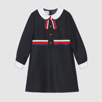 Gucci Children's flannel dress with Sylvie Web