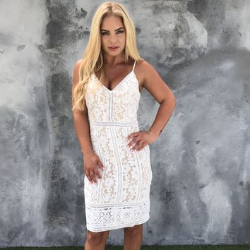 For The Love of Lace Bodycon Dress