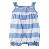 Carter's Stripe Heart Bow Creeper - Baby