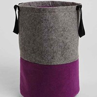 Felt Laundry Hamper- Purple One