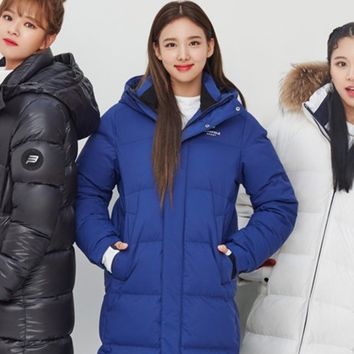 TWICE Beanpole Sport 18FW Unisex Blue B.Bench Deck Down Bench Down Long Padding Jackets