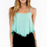 Vicky Trimmed Crop Tank $26