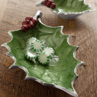 "Julia Knight - ""Holly Sprig"" Candy Dishes - Horchow"
