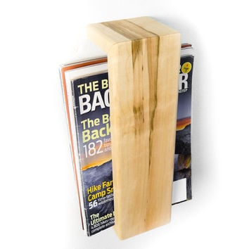 W/S Maple Floating Magazine Rack