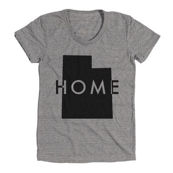 Utah Womens Athletic Grey T Shirt - Graphic Tee - Clothing - Gift