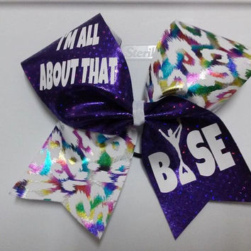 All About That Base Purple Cheer Bow