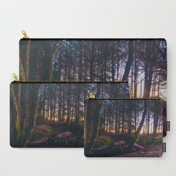 Wooded Tofino Carry-All Pouch by Mixed Imagery