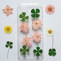 iPhone 6 Plus Case Clear, flower iPhone 6 Case, Pressed Flower iPhone 6 Case, Clear iPhone 6 plus Case, iPhone 6 Plus Case,iphone 5s case