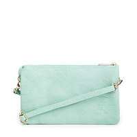 DailyLook: Schrute Leather Wallet in Mint