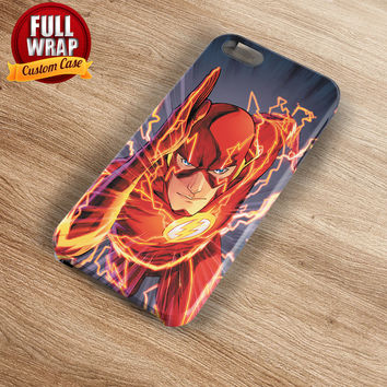 The Flash In Action Full Wrap Phone Case For iPhone, iPod, Samsung, Sony, HTC, Nexus, LG, and Blackberry