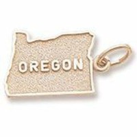 Oregon Charm in Yellow Gold Plated