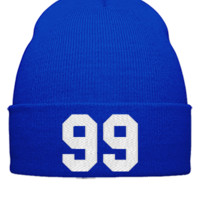 99 Embroidery - Beanie Cuffed Knit Cap