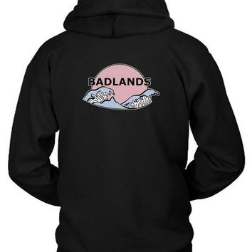 Halsey Badlands Cover Logo Hoodie Two Sided