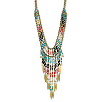Native American Beaded Bib Necklace