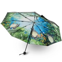 2017 Cartoon Totoro Umbrella Anime Studio Ghibli Umbrellas Rain Women Parasol Female Plegable Sombrillas Paraguas Mujer Fashion
