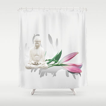 Buddha Shower Curtain by LessaKs Art