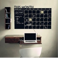 WALL STICKER This Month Calendar chalkboard wall stickers carved trade explosions PCs The blackboard Stickers