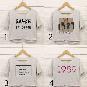 Design taylor swift Deluxe 1989, Taylor swift Quote Croptop For Woman Unisex