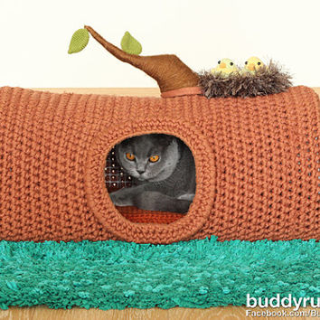 pattern  a house in the forest pet crochet bed cat cave best crochet pet bed products on wanelo  rh   wanelo co