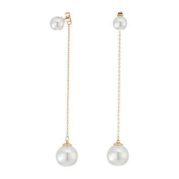 Rebecca Minkoff Long Pearl Drop Earrings Gold/Pearl - Zappos.com Free Shipping BOTH Ways