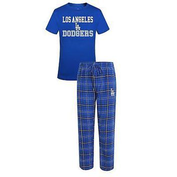MLB Men's Los Angeles Dodgers Halftime Pajamas Shirt & Pant Sleep Set