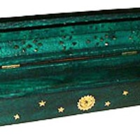 Green Coffin Incense Burner and Storage Box