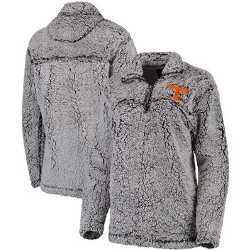 Women's Gray Tennessee Volunteers Sherpa Super Soft Quarter-Zip Pullover Jacket