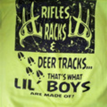 Southern Chaps Funny Riffles Racks Deer Tracks Boy Youth Kids Bright T Shirt
