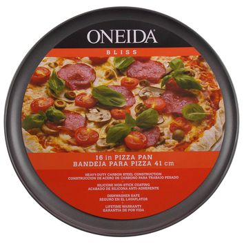 Oneida Bliss 16 Inch Pizza Pan Heavy Duty Carbon Steel Silicone Non Stick Coat