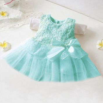 Summer Bow New Born Baby Dress New Princess Sofia Dress Baby Girls Party for Toddler Girl Dresses Clothing tutu Kids Clothes