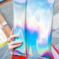 Hologram Envelope Clutch Bag