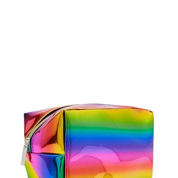 Metallic Rainbow Makeup Bag