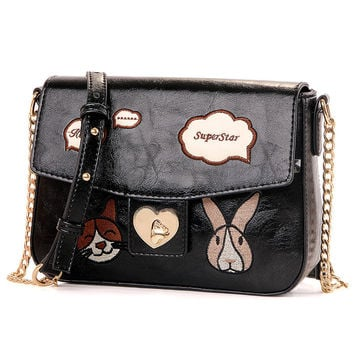 Stylish Chain One Shoulder Lovely Cartoons Mini Messenger Bags [4982893508]