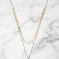 Spike Charm Layered Necklace