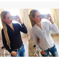 Decoration Chiffon Hot Sale Women's Fashion Shirt [7322410753]