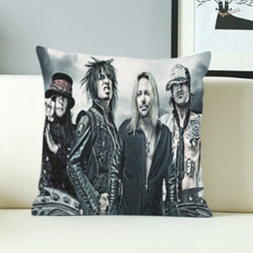 Mötley Crüe - Design Pillow Case with Black/White Color.