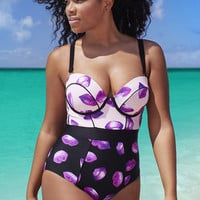 one-piece suits unique design fashion summer  beach  plus size print pattern new arrival