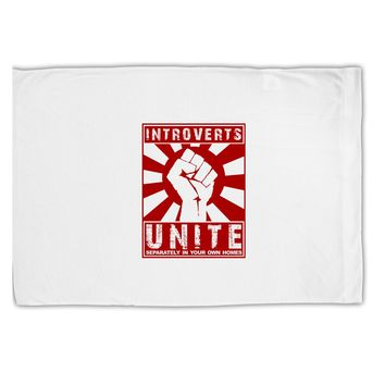 Introverts Unite Funny Standard Size Polyester Pillow Case by TooLoud