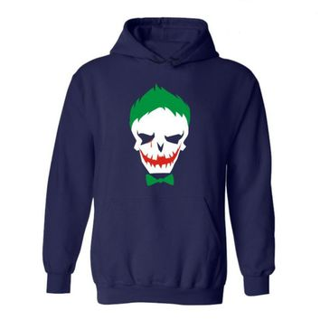 Tide Suicide squad Hooded plus velvet sweater Green bow